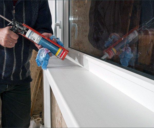 Геометизация швов на пластиковом окне